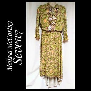 Melissa McCarthy Seven7 Floral Leaf Dress NWT's 1X
